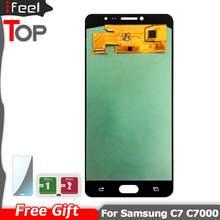 Super AMOLED LCD Pour Samsung Galaxy C7 C7000 SM-C7000 Affichage + Écran Tactile Digitizer Assemblée