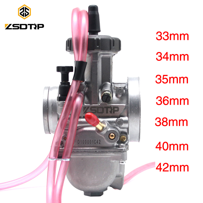 Carburateur de moto ZSDTRP 33 34 35 36 38 40 42mm ZSDTRP PWK Carburador pour tous les vélos de saleté ATV 250cc plus grands