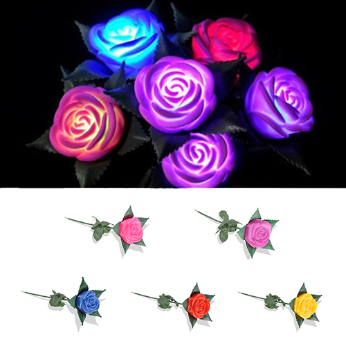Charming Glow Rose Pattern Led Light Room Garden Faux Flower Lamp Decor Festive & Party Supplies Artificial & Dried Flowers