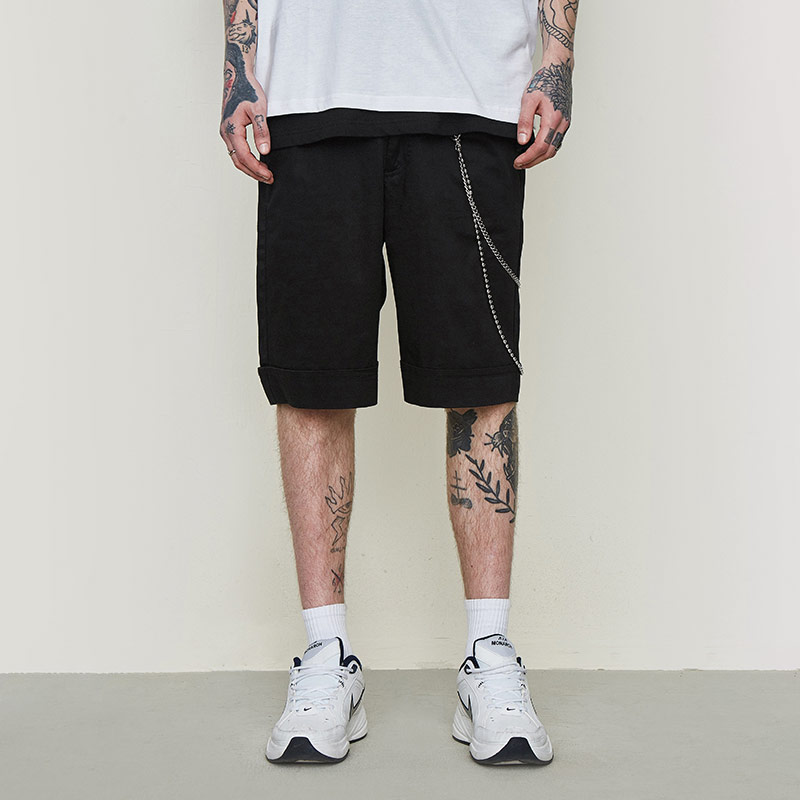 British fashion casual pants contracted nude business casual men's cargo shorts