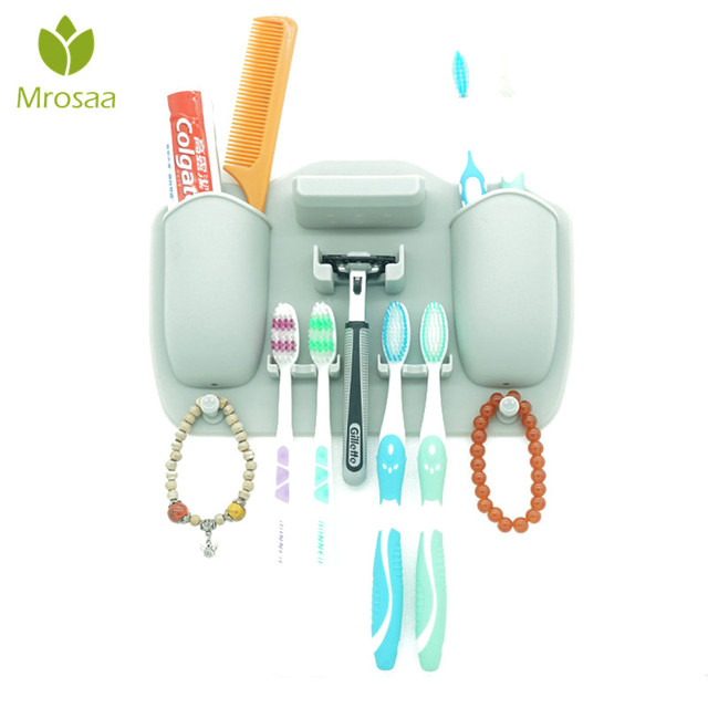 Mrosaa Mighty Silicone Toothpaste Toothbrush Holder Bathroom ...