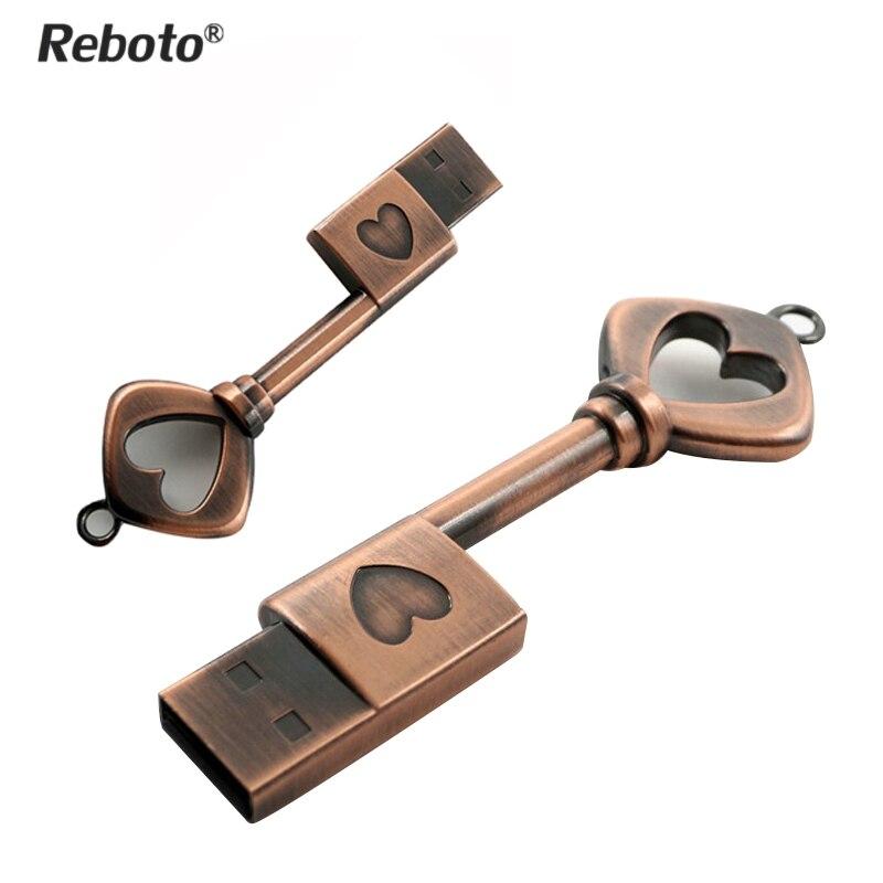 heart key usb flash drive 64gb mini usb stick 32gb metal. Black Bedroom Furniture Sets. Home Design Ideas