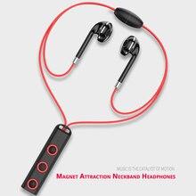Магнитное ожерелье Спорт Bluetooth наушники в ухо Беспроводной наушники для бега наушники с микрофоном Bluetooth 4,1 вакуумные наушники
