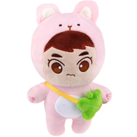 22cm Kpop EXO XIUMIN Plush Dolls Stuffed Doll Cute Animal Character KimMinseok Plush Toy EXO Fans Gifts Collection Doll With Bag