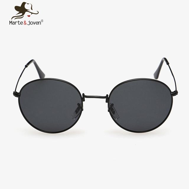 Estilo clássico simples do vintage óculos de sol para homens Unisex moda retro rodada óculos de sol mulheres ao ar livre UV - óculos de proteção