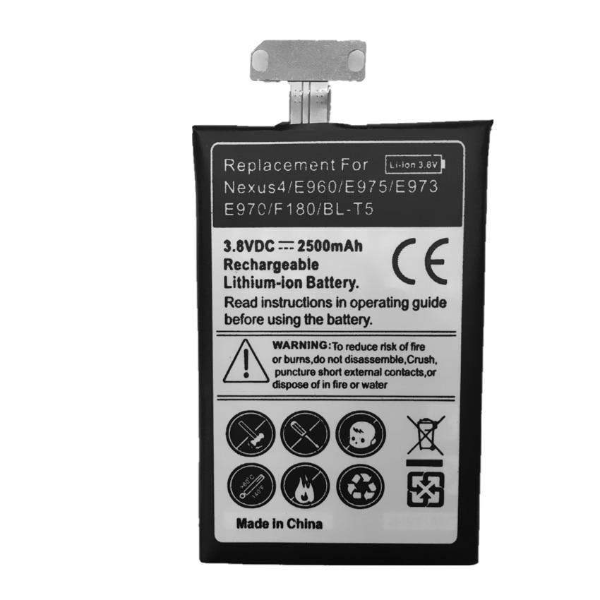Replacement Battery Nexus F180 E975 Optimus For LG 4-battery/E975/E973/.. T5 BL-T5 Bateria