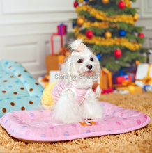 Free shipping winter comfortable polka dot pet sleeping pad cat doghouse kennel cute puppy