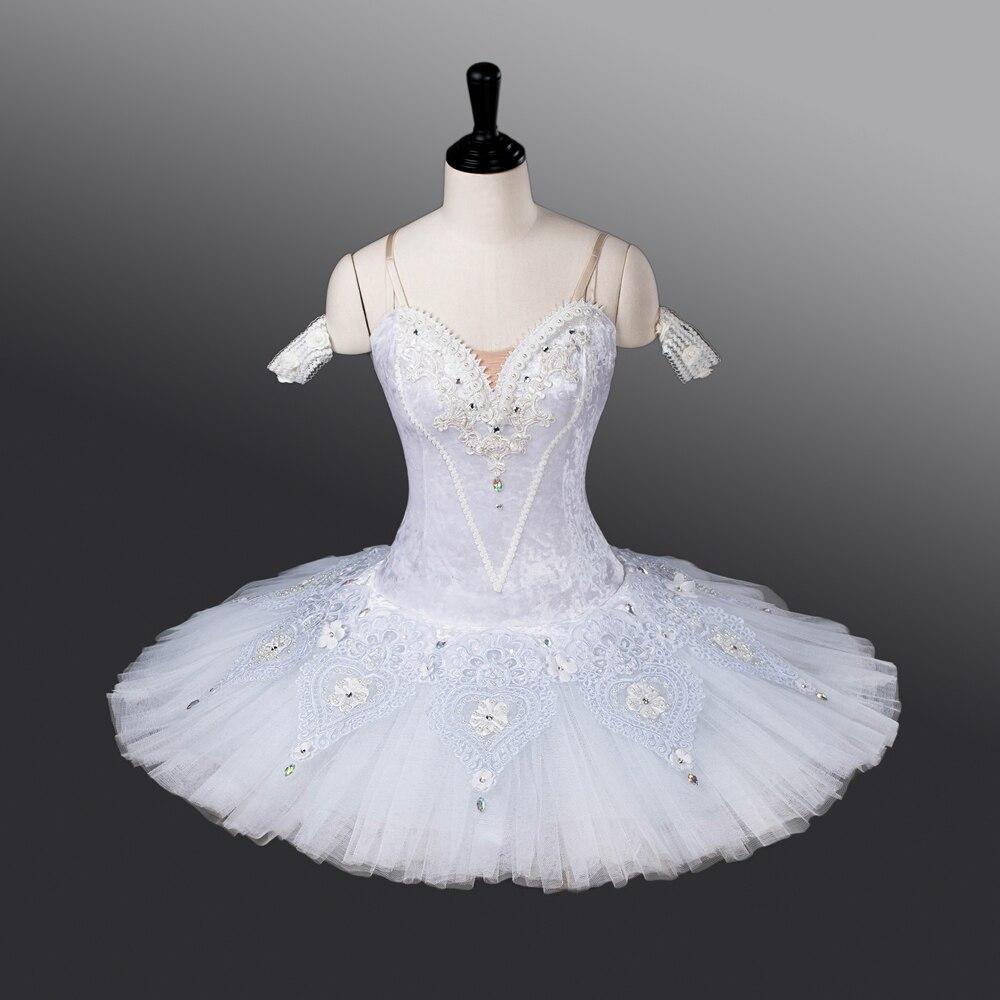 Fltoture Женская обувь, белый цвет профессиональная балетная пачка Белоснежки этап одежда балерина подарок на день рождения ATS9011 девочек балет