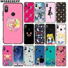 WEBBEDEPP marinero MOON GIRL Anime caso suave para Xiaomi 9 8 iPhone 6 A1 A2 Lite MIA1 MIA2 Lite MI8 MI6 MAX 3 POCOPHONE F1