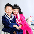 2016 Must Haves Children's Bathrobes Autumn and Winter Flannel Nightgown Male Big Boy Lengthened Robes Girls Bathrobes