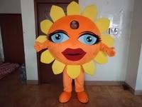 High quality customized sun Sunflower Mascot Costume Halloween Fursuit Fancy Dress Free Shipping