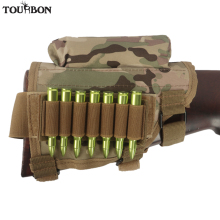 цена на Tourbon Universal Cheek Rest Riser Pad Buttstock Rifle Cartridges Ammo Holder for Shooting Hunting Gun Accessorries