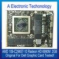 Original Genuine 2 GB Placa Gráfica Para DELL 109-C29657-10 AMD Radeon HD 6990 M Exibição Placa de Vídeo GPU Substituição Testado trabalhando