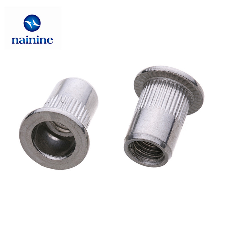 2Pcs-20Pcs M3 M4 M5 M6 M8 M10 M12 304 Stainless Steel Rivnut Flat Head Threaded Rivet Insert Nutsert Cap Rivet Nut HW0942Pcs-20Pcs M3 M4 M5 M6 M8 M10 M12 304 Stainless Steel Rivnut Flat Head Threaded Rivet Insert Nutsert Cap Rivet Nut HW094