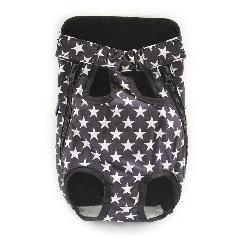 Armi store Pentagram Pattern Dog Bag 강아지 용 편안한 가슴 앞 캐리 가방 6111022 애완 동물 다섯 홀 배낭 용품
