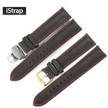 Istrap 18mm 19mm 20mm 21mm 22mm correa de reloj correa de reloj del cuero genuino correa de reloj de reemplazo para tissot seiko omega iwc