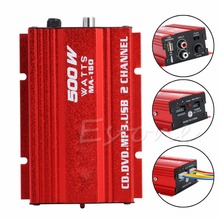 500W 2-CH Hi-Fi  Car Subwoofer Amplifier Stereo Audio Equalizer AMP For Motorcycle Home Mp3 HQ