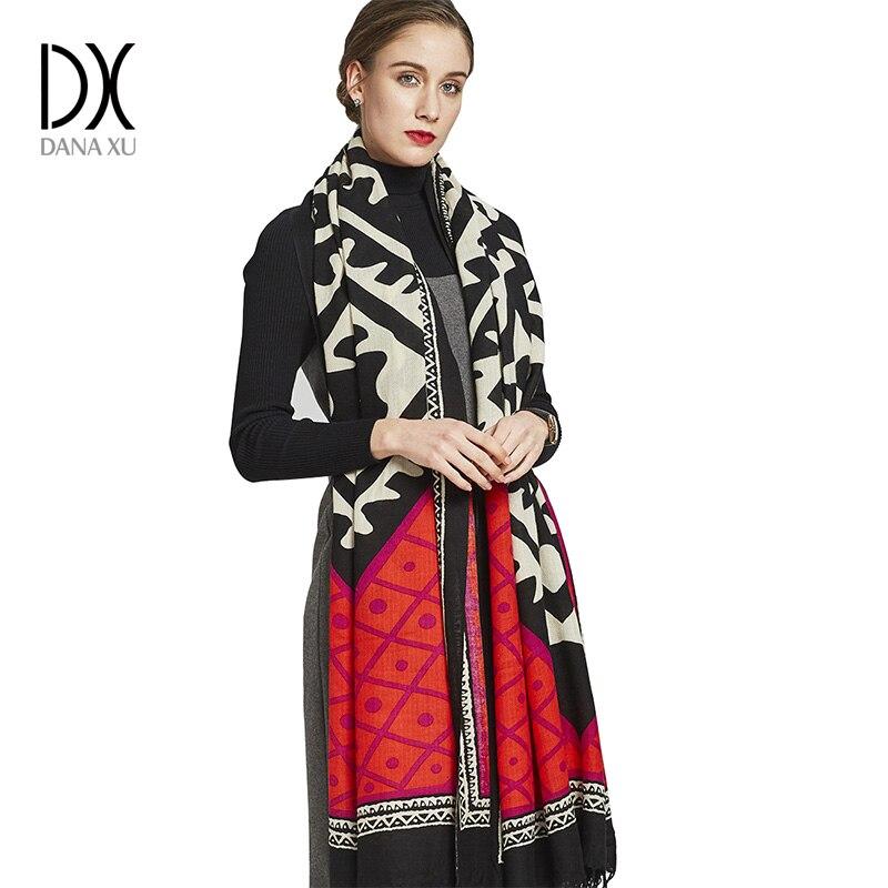 Luxury Brand Scarf Cashmere Cape Poncho Wool Winter Fashion Scarves and Shawls Cashmere Pashmina Bandana Face