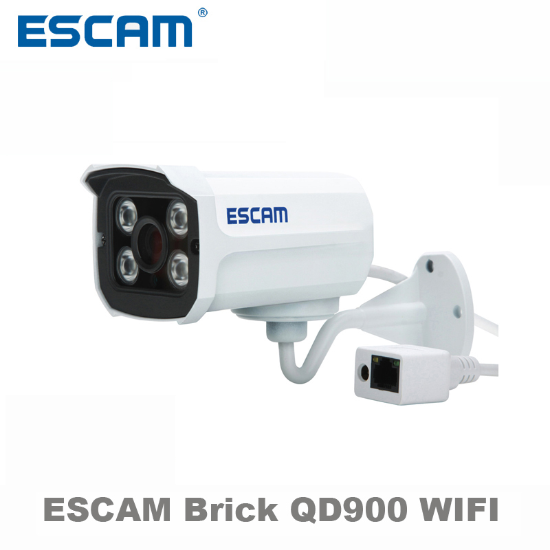 ESCAM 1080p Brick QD900 WIFI 2 MP full HD Network IR-Bullet Camera Day/Night IP66 onvif 2.2 3.6mm fixed Lens wireless ip camera bijia 20x nitrogen waterproof binoculars 20x50 portable alloy body telescope with top prism for traveling hunting camping