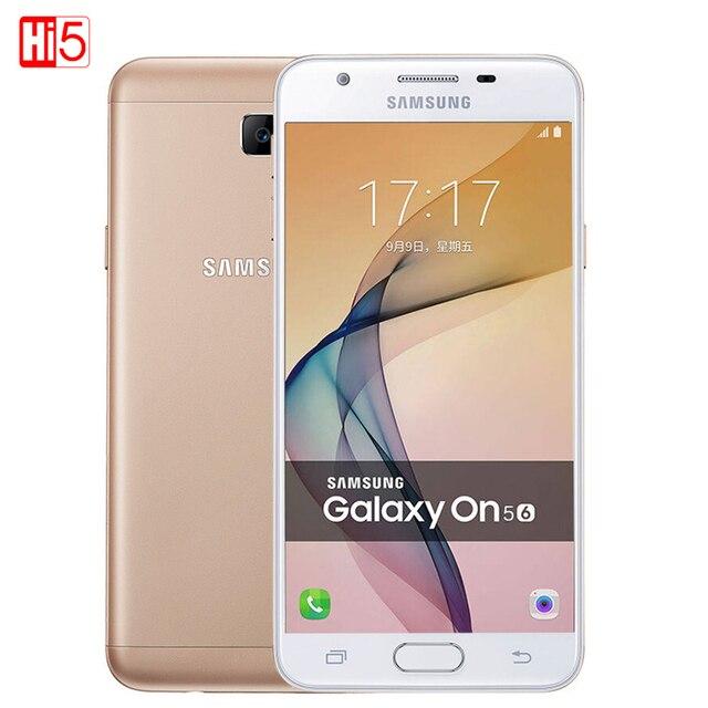 Original samsung galaxy on5 g5510 2016 gb ram dual sim 5.0 ''16 GB ROM 4G LTE Android 6.0 13MP 2600 mAh Dual SIM de Metal shell