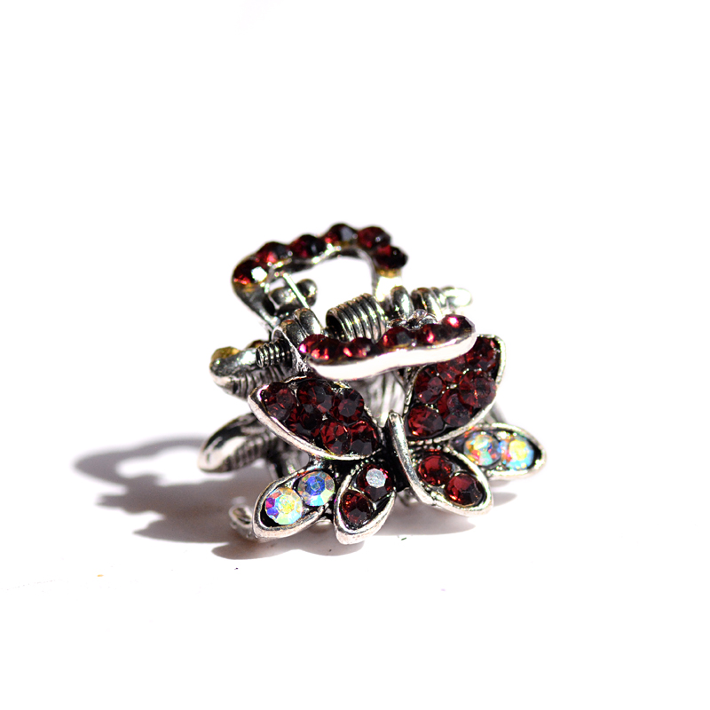 muylinda Butterfly Rhinestone Hair Claw Crab Smykker Vintage Women - Mode smykker - Foto 4