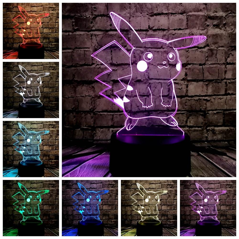 HOT SALE Japanese Cartoon Figure 3D LED USB Lamp Pokemon Go Game - Night Lights - Photo 5