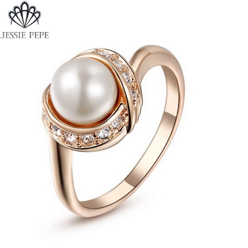 ג 'סי פפה Italina Rigant לנשים טבעת אנל דה perola עם סיטונאי האוסטרי קריסטל # משלוח חינם JP93137