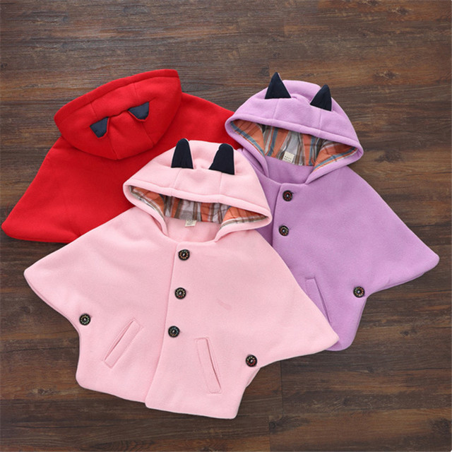 c5c6e8f7017d Autumn   winter new design baby girl Attached hat cloak coat All ...