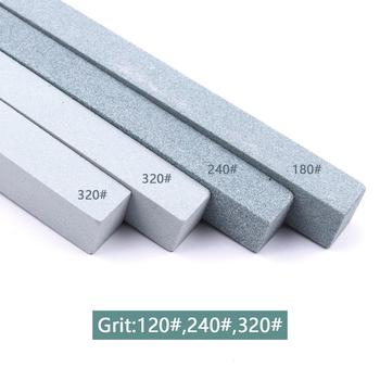 UK 4Pcs Grit 120# 240# 320#x2 Oil Stone Green Silicon Carbide Sand Bar Whetstone for Metal Ceramic Knife Sharpener Good Stone intermediate layer in the metal silicon carbide contact