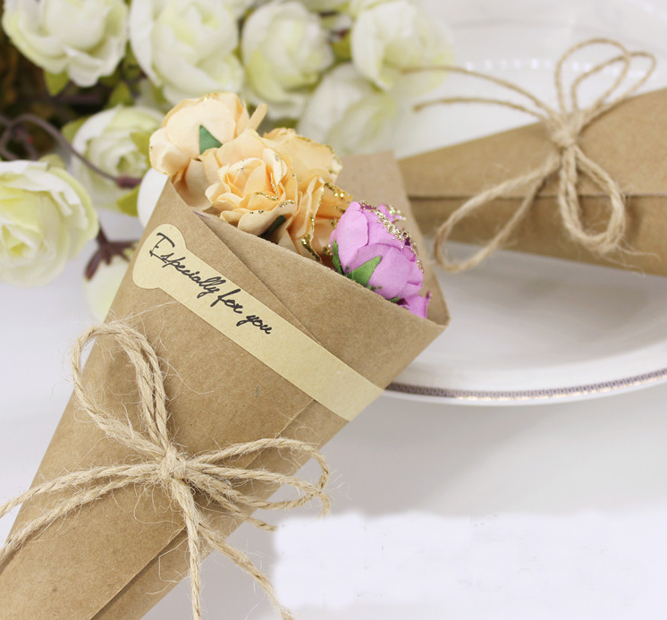 100 x wedding favors flower holder ice cream style diy kraft paper 100 x wedding favors flower holder ice cream style diy kraft paper cones candy boxes party favors souvenirs gift box for guests in gift bags wrapping mightylinksfo