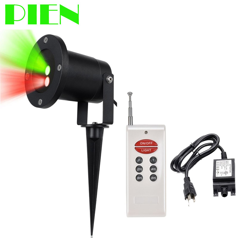 ФОТО Red Green Sparkling Christmas led Laser Light Aluminum 12V Waterproof for Outdoor Garden + Remote + Power adapter Free shipping