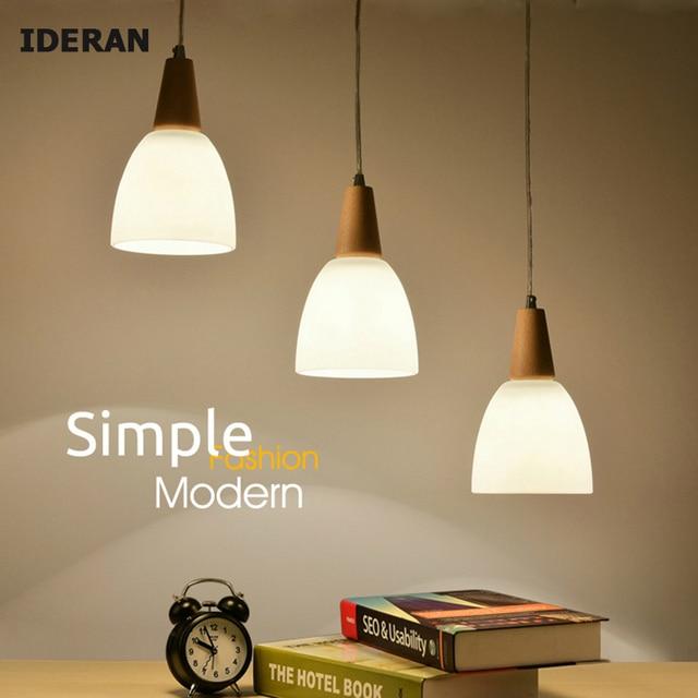 IDERAN Pendant Light Bedroom Wood Lamps Lampshade Kitchen Lamp Droplight  Japanese Pendant Lamp Study Of Children