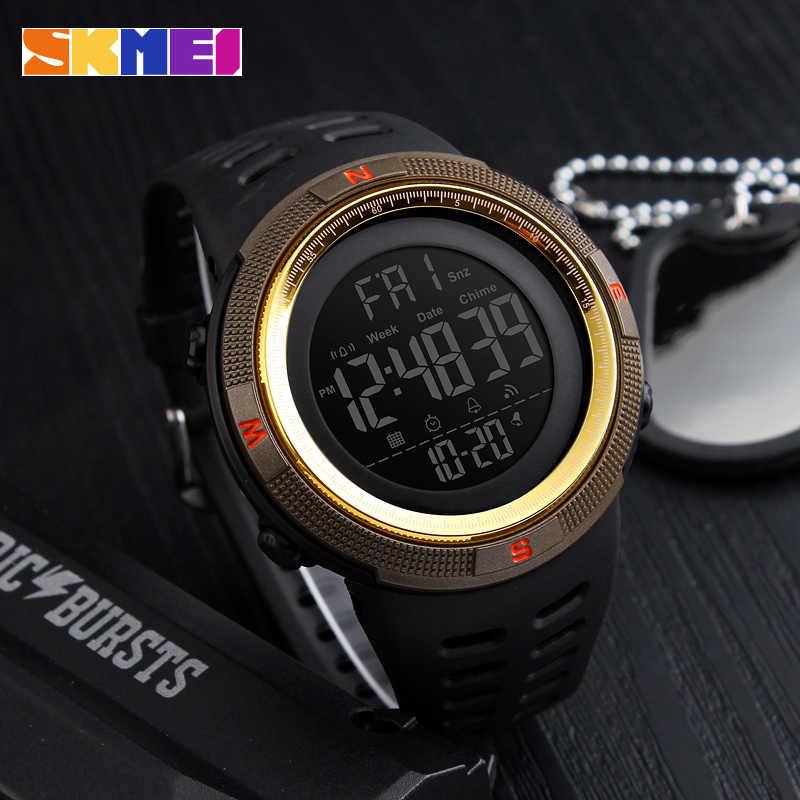 Skmei 2019 moda esporte ao ar livre relógio masculino multifunções relógios alarme chrono 5bar à prova dwaterproof água relógio digital reloj hombre