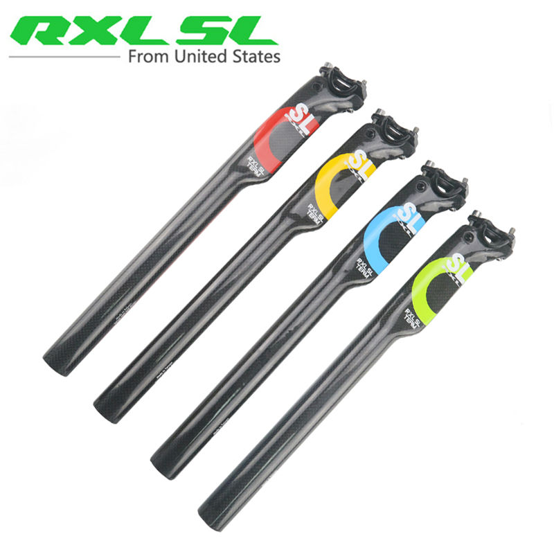 Carbon Seatpost Road/Mtb Bicycle Seatposts RXL SL Bike seat post Breaking wind 3K Gloss 27.2/30.8/31.6*350/400mm Bicycle parts