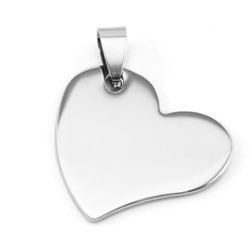 56f777c28e7eb Simsimi مصغرة منحرف القلب سحر قلادة diy مجوهرات سحر مرآة مصقول للنساء  المقاوم للصدأ أسعار الجملة 50 قطع