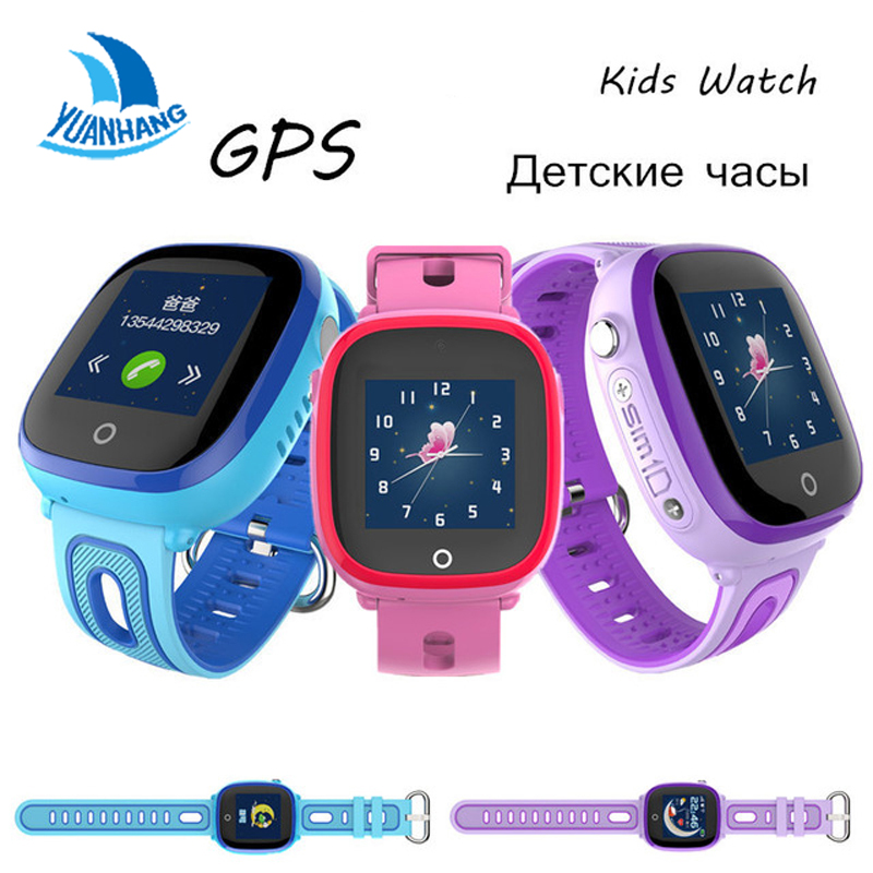 2018 New IP67 Waterproof Smart Safe GPS LBS Location Touch Screen SOS Call Monitor Wristwatch Finder Tracker Watch for Kid Child free shipping 10pcs dly d1