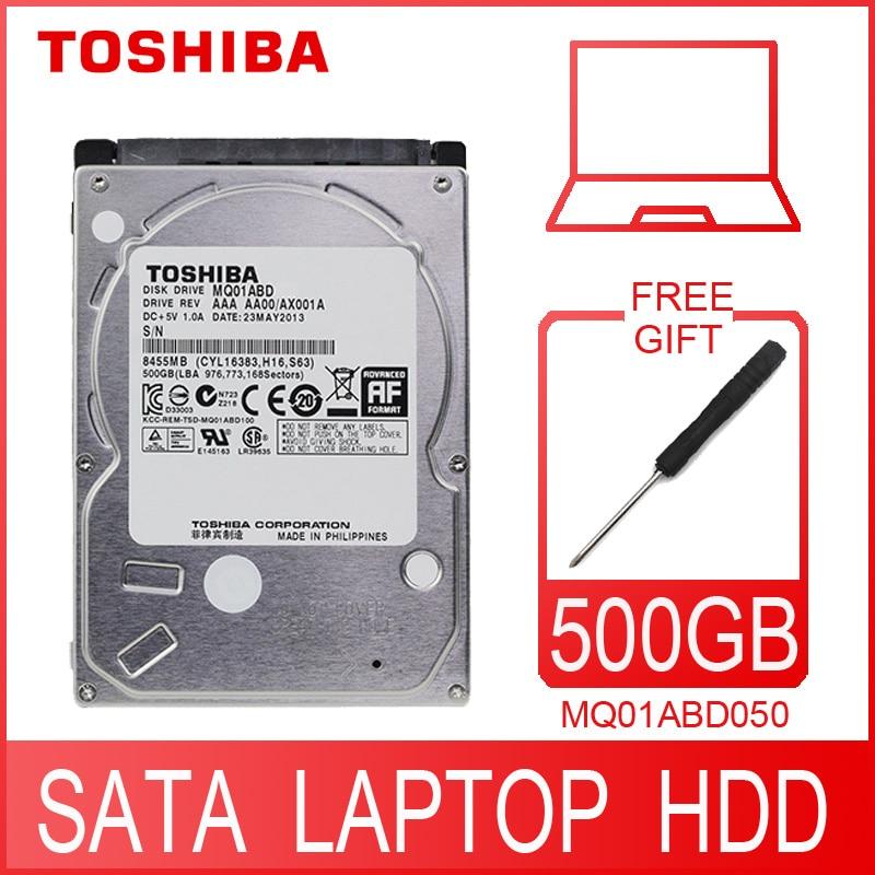 Внутренний жесткий диск TOSHIBA для ноутбука, 500 Гб, 500 г, HDD, 2,5 дюйма, 5400 об/мин, 8 м, SATA 2 MQ01ABD050, оригинальный новый для ноутбука