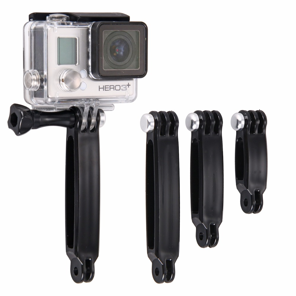 GoPro hero 4/3 + / coyote lengthened triple helmet bracket extension bracket extension rod bracket