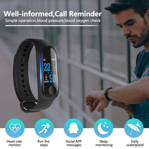 Image 4 - M3 Smart Band Sport Armband Fitness Tracker reloj inteligente Armband Monitor 0,96 zoll Herz Rate Monitor Smart band