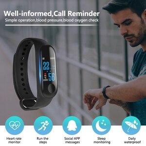 Image 4 - M3 inteligentna bransoletka sportowa Fitness Tracker reloj inteligente opaska na nadgarstek Monitor 0.96 cal opaska z pulsometrem