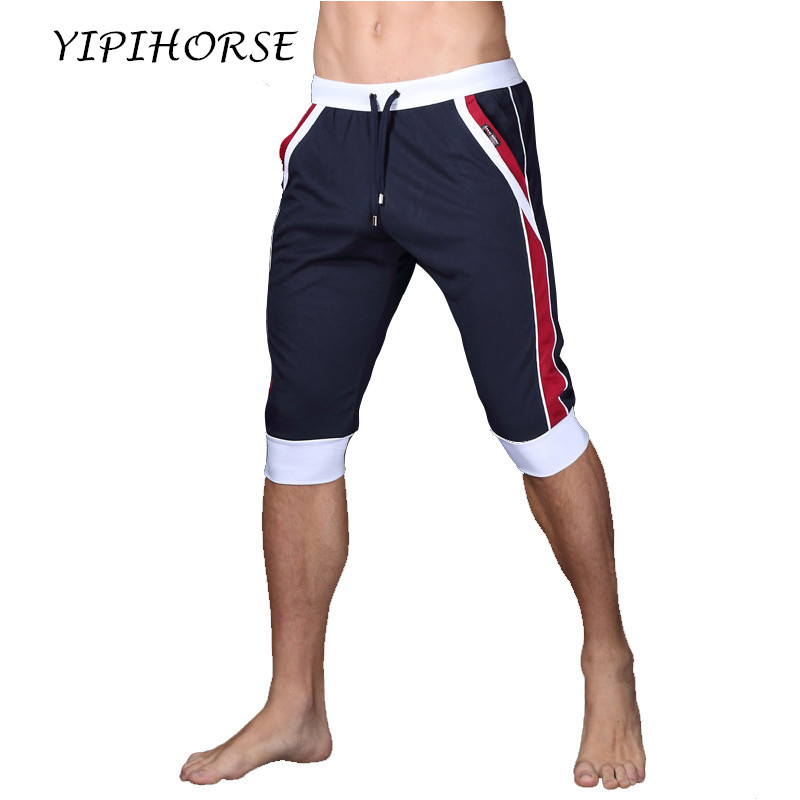 Summer Leisure Sports Men Five Pants Elastic Pants Men Fashion Fitness Outer Wear Shorts At Home