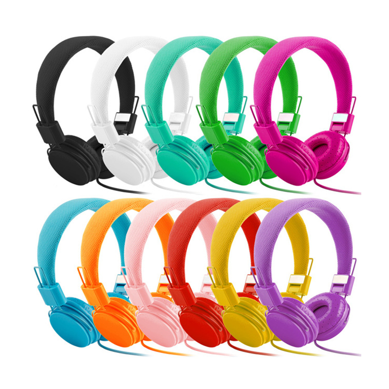 High Quality stereo bass Kids headphones E5 With Microphone Music Earphones Children Headsets Small Earphone as gift