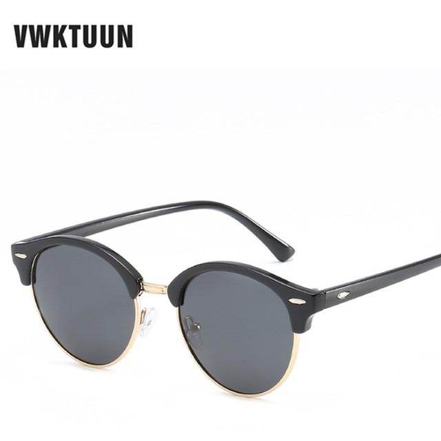 VWKTUUN Polarisées lunettes de Soleil Femmes Hommes Marque Designer Vintage  lunettes de Soleil Rondes Pour Femme f75b06451f2f