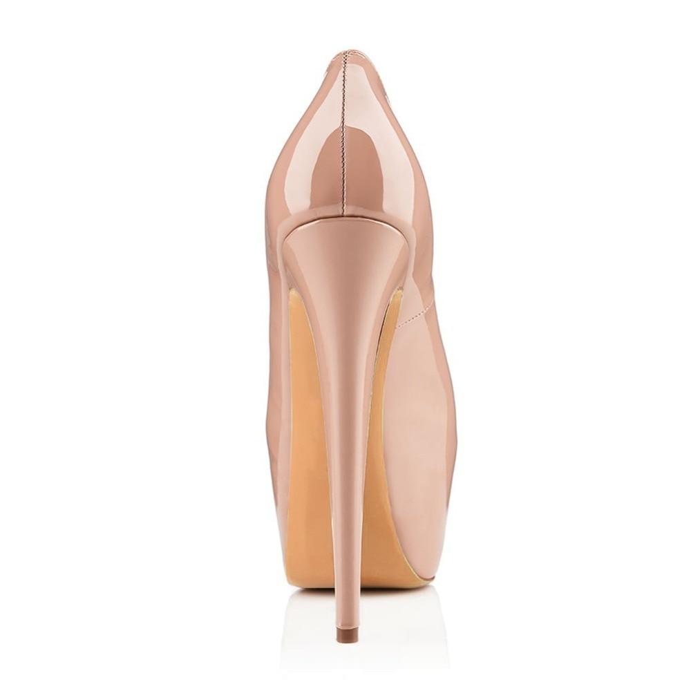 Peep Talons Hauts Robe forme Stilettos Toe Nude Furtado De Arden 12 Nude Chaussures Sexy Cm Pompes black Bureau Printemps Dame 43 2019 Soirée Mode Plate Ptxz8