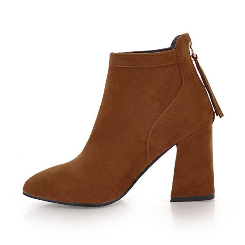 Zapatos Beige Invierno Tacones Tamaño Botas 43 Kemekiss Moda Gruesas  amarillo Tobillo Mujer negro Zipper Caliente Concise Señoras 33 g4qZwnIx 7d83e44235e9
