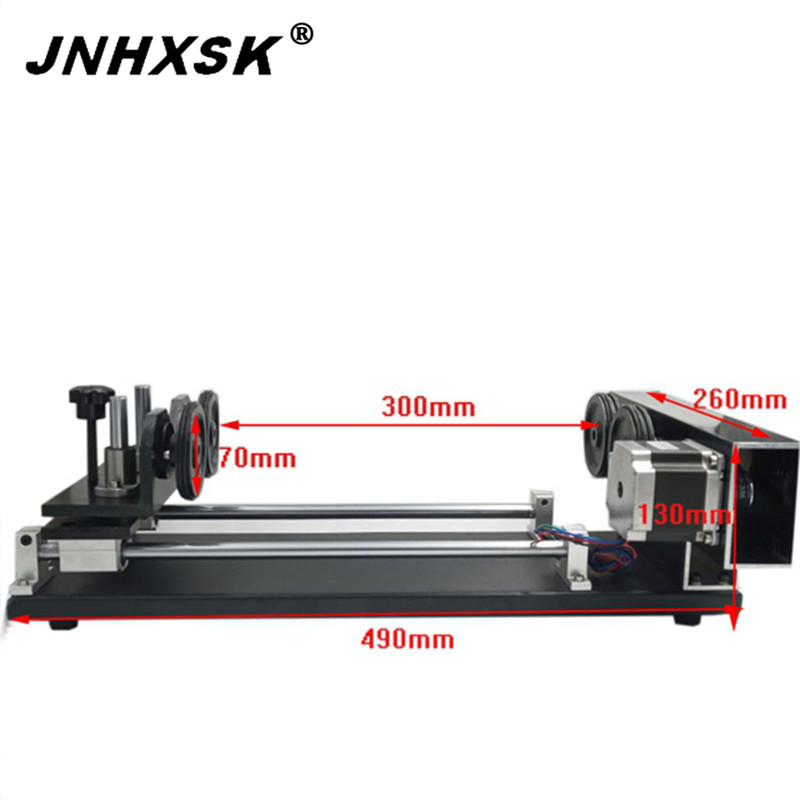 JNHXSK High Quality Rotary Axis For Laser Engraving Cuter Machine Portable Desktop Cheaper Price CNC CO2 Carve Glass Cup Engrave
