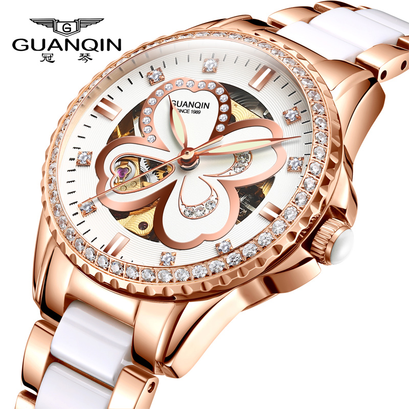 Luxury Rose Gold Women Watches 2019 New Fashion Ladies Dress Clock Steel and ceramic Waterproof Female Mechanical Watch relogioLuxury Rose Gold Women Watches 2019 New Fashion Ladies Dress Clock Steel and ceramic Waterproof Female Mechanical Watch relogio
