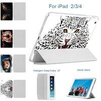 MTT For IPad 2 3 4 Mini 1 2 3 Smart Case PU Leather 3D Print