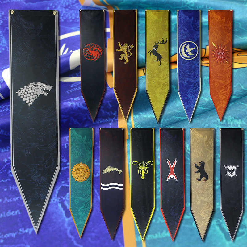 HQ Satin Game Of Thrones Banner Home Decorative Flag Westeros map 7 on once upon a time kingdom map, anglo-saxon kingdoms map, kingdom of war game map, walking dead map, before westeros robert s rebellion map, a clash of kings map, assassin's creed kingdom map, kingdom of kush map, king of thrones map, de jure ck2 kingdoms map, fire and ice map,