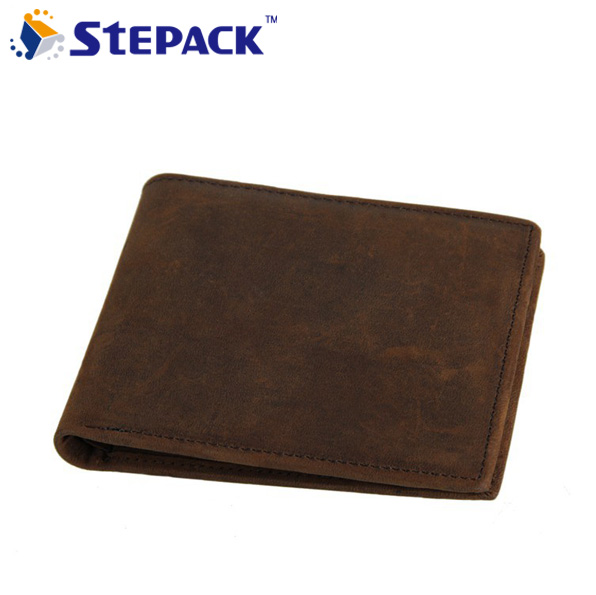 High Quality Famous Brand Vintage Men Wallet Genuine Leather Wallet For Cowhide Leather Bifold Business Money Bag Credit Bill Ho high quality genuine leather business men s waist bag fashion money bag wallet cross money packet soft solid zipper
